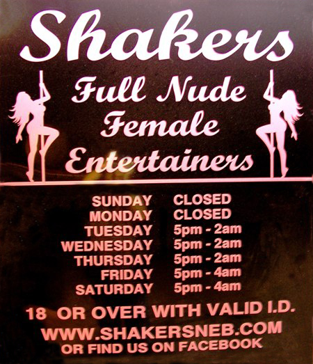 Shakers Gentlemen's Club